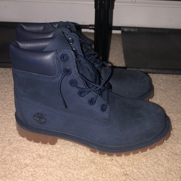 Navy Blue Timberland Boots
